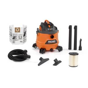 14 Gal. 6.0-Peak HP NXT Wet/Dry Shop Vacuum with Filter, Hose and Accessories, Oranges/Peaches