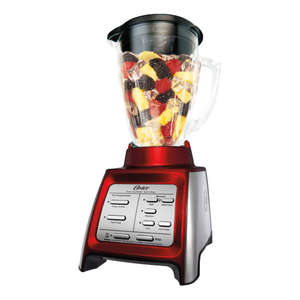 Oster BLSTRM-DZR-BG0 Designed for Life 7-Speed Blender w/ Smoothie Cup Red