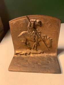 End Of The Trail Cast Iron Bookend 1B