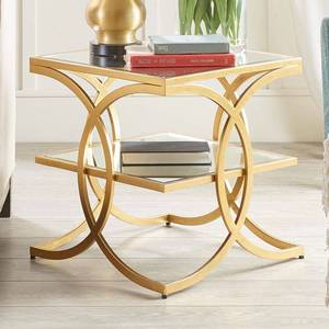 Madison Park Jace Glam Gold End Table Retail:$146.99
