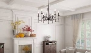The Gray Barn Hickory Cottage 6-light French Country Chandelier Retail:$164.99