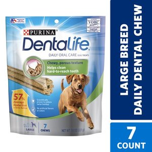 Purina DentaLife Large Dog Dental Chews, Daily, 7 ct. Pouch