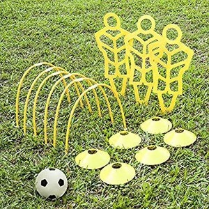 A11n Soccer Training Set 3 Mannequins 6 Passing Arcs 6 Disc Cones 1 Ball & Pump