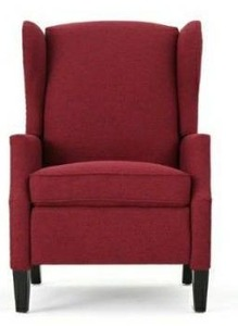 Wescott Contemporary Fabric Recliner Wine Red