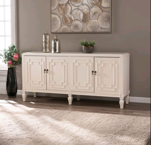 Copper Grove Taborley Transitional White Wood Accent Cabinet- Retail:$351.99