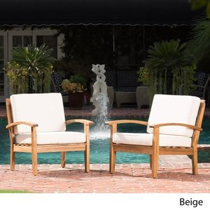 Peyton Outdoor Wooden Club Chair (Set of 2) by Christopher Knight Home- Retail:$422.49