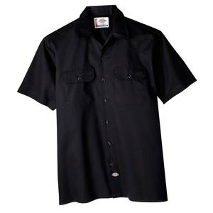 Dickies Men's Big & Tall Short Sleeve Work Shirt - Black 4XL