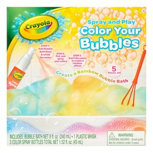 Crayola 5-Piece Spray and Play Color Your Bubbles Bubble Bath Set