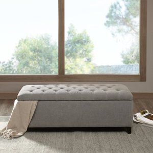 Copper Grove Campbell Sasha Grey Tufted Top Storage Bench Retail:$208.99