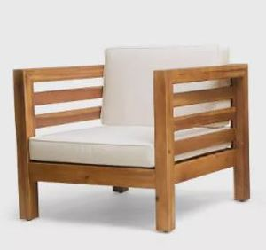 Oana Outdoor Acacia Wood Club Chair by Christopher Knight Home