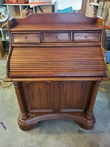Modern Style Roll Top Secretary Desk