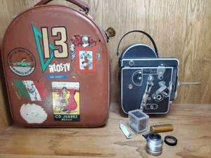 Paillard Bolex H16 Movie Camera. with Lens 1inch f/1.9. In Leather Case with Accessories