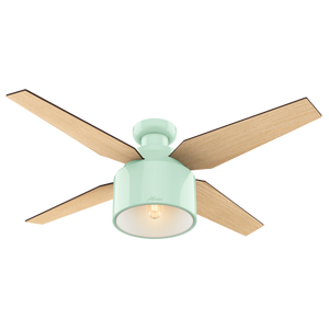 "Hunter 52"" Cranbrook Mint Ceiling Fan with Light Kit"