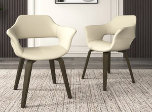 Corvus Patrizio Mid-Century Modern Accent Chair (Set of 2)- Retail:$271.99