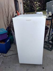 Working medium-sized Frigidaire freezer 24 in wide 26 and 1/2 in deep 52 in tall