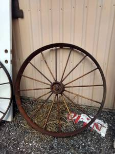 iron implement wheel 46 inches tall