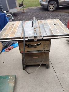 working Craftsman 10-in bench saw