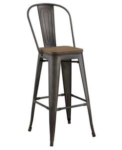 Promenade Metal Bar Stool Brown - Modway