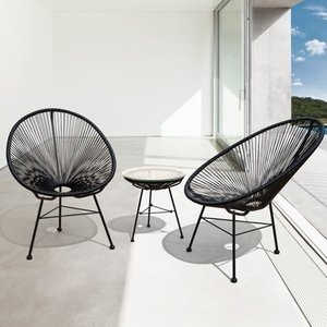 Sarcelles Modern Wicker Patio Chairs by Corvus (Set of 2) - Retail:$212.00