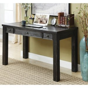 Furniture of America Lon Rustic Black 52-inch Solid Wood Writing Desk- Retail:$492.99