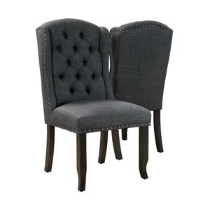 Furniture of America Tays Rustic Linen Fabric Dining Chairs (Set of 2) - Retail:$394.99