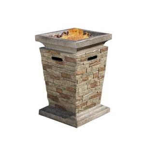 Laguna Outdoor Fire Column by Christopher Knight Home- Retail:$314.99