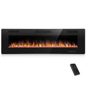60-inch Ultra-thin Electric Fireplace Insert for Wall-mounted or In-wall Installation- Retail:$457.49