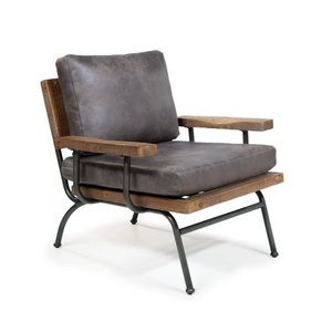 Furniture of America Bice Industrial Accent Chair- Retail:$497.35