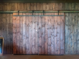 (2) Sliding Barn Doors With Hardware