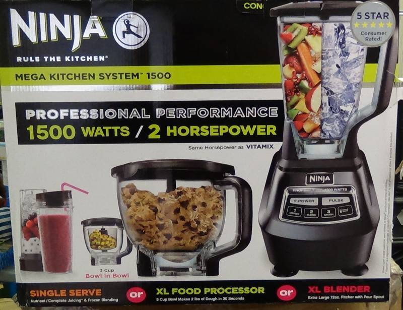 Ninja 1500 Watt Mega Kitchen System 1500 | Price Peeler ...