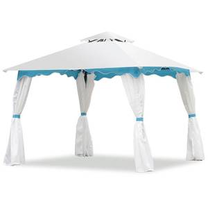 Costway 2-Tier 10' x 10' Patio Gazebo Canopy Tent with Side Walls