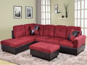 Red Sectional with Ottoman First Picture is an Example. Retail:$955.49