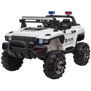 Aosom 12V Ride On Car 2- Seat SUV Truck w/ Remote Control, 3 Speeds, LED Light Bar, Audio Input Retail:$368.49