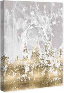 Oliver Gal 'Our Moment' Abstract Wall Art Canvas Print - Gold, Gray Retail:$99.99