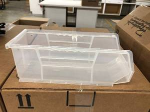 "(18)  4""Wx4""Hx10.5""L Storage Containers"