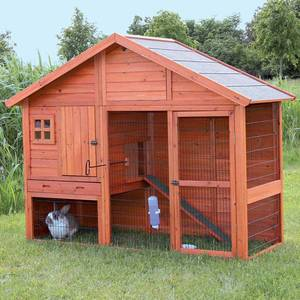 TRIXIE Rabbit Hutch with Gabled Roof Retail:$377.49