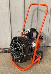 "COMMERCIAL General Mini-Roto - Sewer Snake Machine - Super Heavy Duty - 3/4"" 100' - Works!"