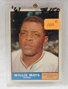 "1961 Topps Willie Mays #150 in Hard Plastic Holder - Collector Card of ""THE Willie Mays"""