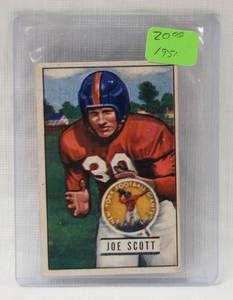 1951 Bowman # 128 Joe Scott New York Giants - Football Card