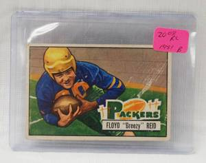1951 Bowman # 52 Floyd Reid - Green Bay Packers