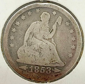1853 Seated Liberty Silver Quarter Dollar - Wow!