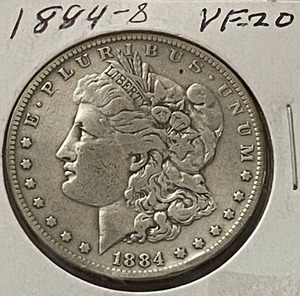 1884-S $1 Morgan Silver Dollar - Very Collectible