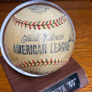 "Autographed Baseball ""H.O.F."" Babe Ruth - Lou Gehrig - Macfayden - C. Berry - Judge - Ruel - E. Morris and More! w/ JSA Cert."