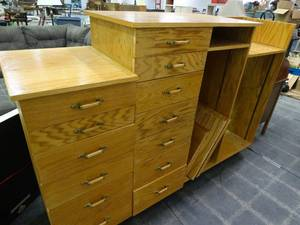 Chest of Drawers/Shelf Combo