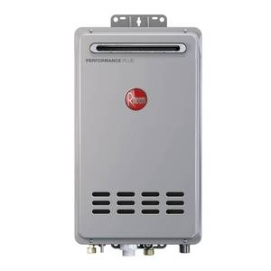 Rheem Performance Plus 9.5 GPM Natural Gas Outdoor Tankless Water Heater