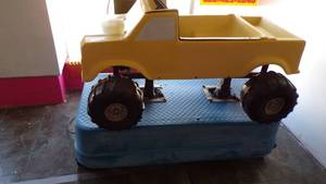 FORD BIG FOOT TRUCK RIDE MACHINE - ALL ORIGINAL EXCEPT HAS NEW MOTOR - WORKS GREAT