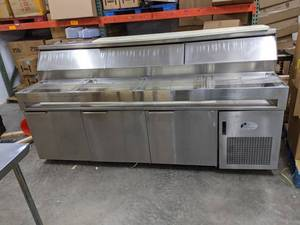 Randell Refrigerated Prep Table On Casters