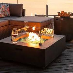 Cosiest Fire Table, and Glass wind guard