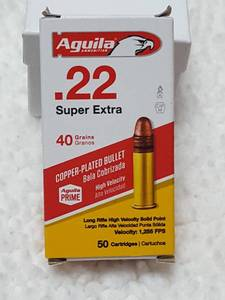 50 ct., .22 super extra bullets, 40 gr.