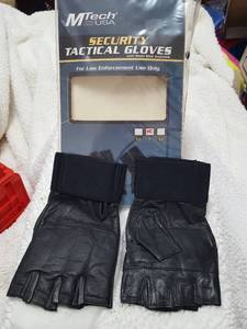 Security Tactical Gloves with steel shot knuckles, Size large